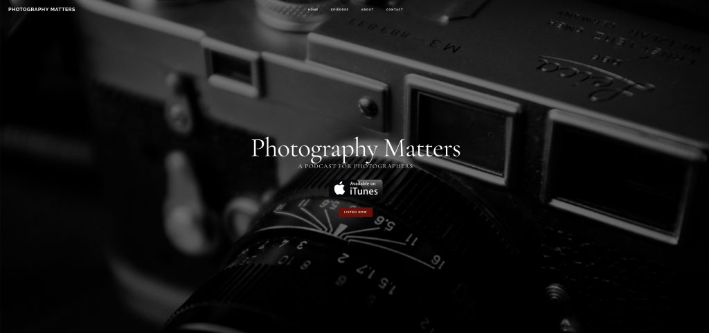 Photography Matters Podcast Has Moved